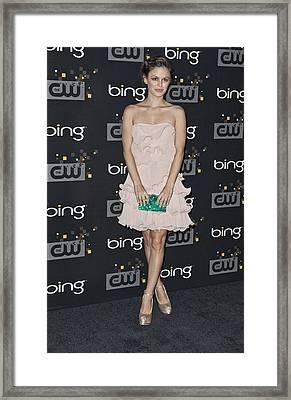 Rachel Bilson Wearing An Erin Framed Print by Everett
