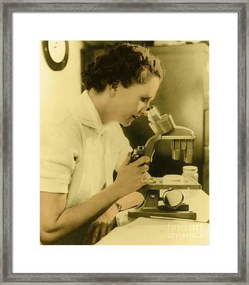 Rachel Carson, American Marine Biologist Framed Print by Science Source