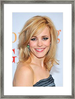 Rachel Mcadams At Arrivals For Morning Framed Print