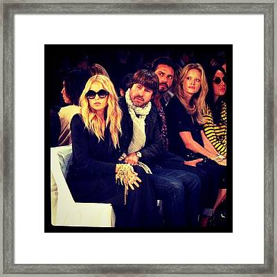 Rachel Zoe And Rodger At Dvf Fashin Show Framed Print