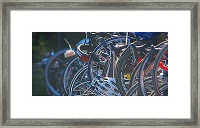 Racing Bikes Framed Print