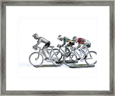 Racing Cyclist Framed Print by Bernard Jaubert