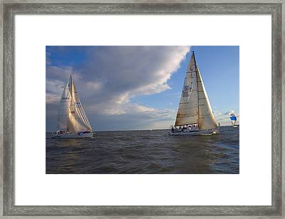 Racing In Annapolis Framed Print