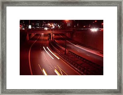 Racing Lights Framed Print by Mandi Howard