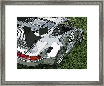 Racing Porsche No. 66 Framed Print by Samuel Sheats