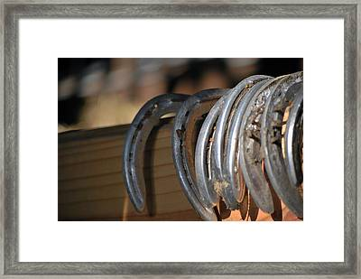 Racing Shoes Framed Print
