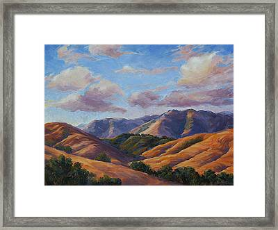 Racing Sunset To The Sea Framed Print by Shawn Shea