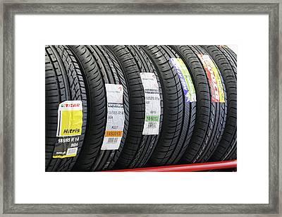 Rack Of Car Tyres Framed Print by Ria Novosti