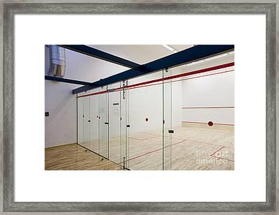 Racquetball Court Glass Divider Framed Print