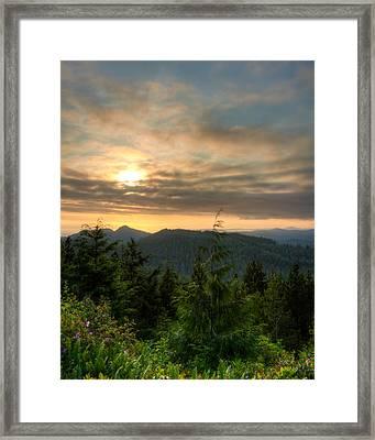 Radar Hill Sunset - Tofino Bc Canada Framed Print by Matt Dobson