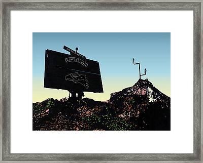 Radar Site Framed Print by Lyle Brown