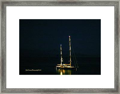 Radiance At Night Framed Print
