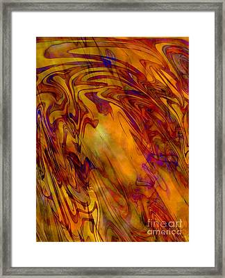 Radiant - Abstract Art Framed Print by Carol Groenen