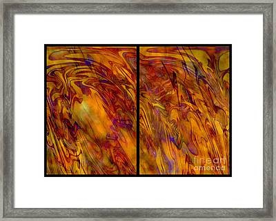Radiant And Warm - Abstract Art Framed Print by Carol Groenen