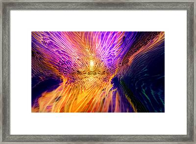 Radiant Flow Framed Print