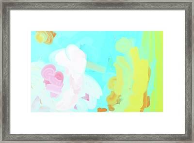 Radiant Water Libation Framed Print