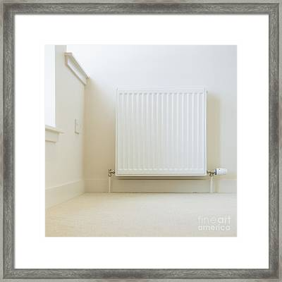 Radiator In Modern Home Framed Print by Iain Sarjeant