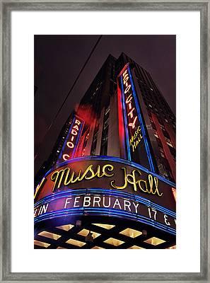 Radio City Music Hall Framed Print by Benjamin Matthijs