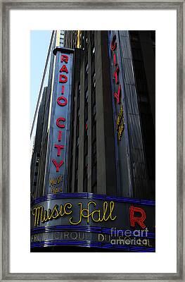 Radio City Music Hall Cirque Du Soleil Framed Print by Lee Dos Santos