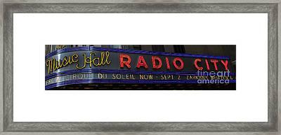 Radio City Music Hall Cirque Du Soleil Zarkana II Framed Print by Lee Dos Santos