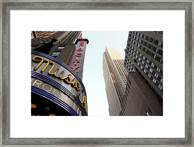 Radio City Music Hall Framed Print by Michael Dorn