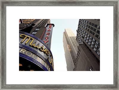 Radio City Music Hall Framed Print