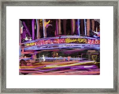 Radio City Framed Print by Russell Pierce