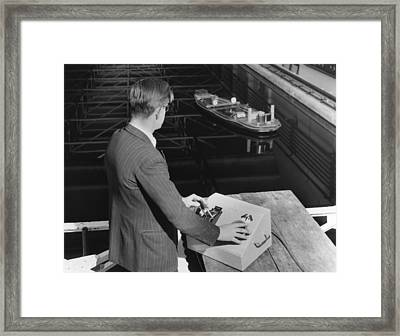 Radio-controlled Model Tug, 1955 Framed Print by National Physical Laboratory (c) Crown Copyright