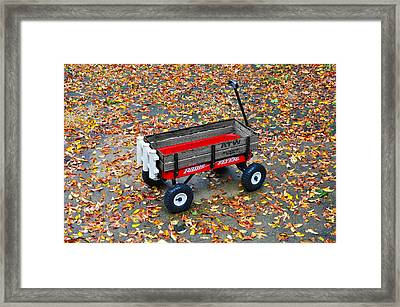 Radio Flyer Framed Print by Bill Cannon