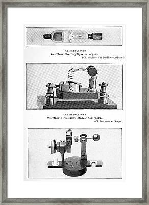 Radio Receiver Components, 1914 Framed Print by