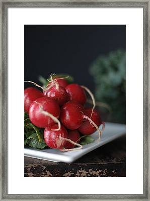 Radishes And Kale Framed Print by Shawna Lemay