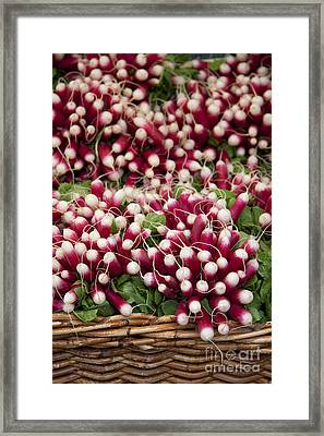 Radishes In A Basket Framed Print