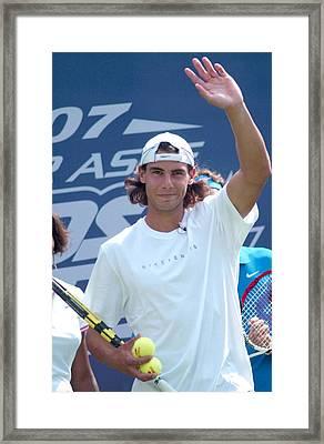 Rafael Nadal In Attendance For Ustas Framed Print