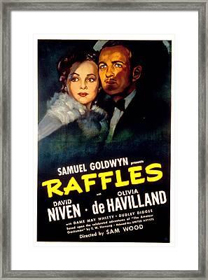 Raffles, Olivia De Havilland, David Framed Print by Everett