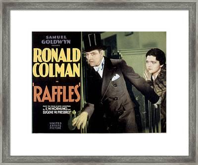Raffles, Ronald Colman, Kay Francis Framed Print by Everett
