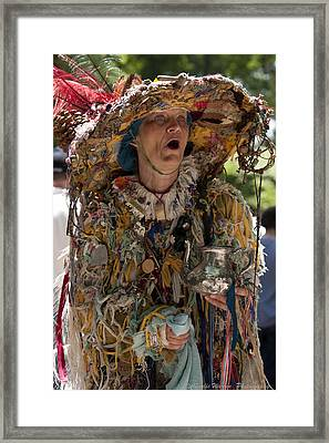 Rag Lady Begging Framed Print by Charles Warren
