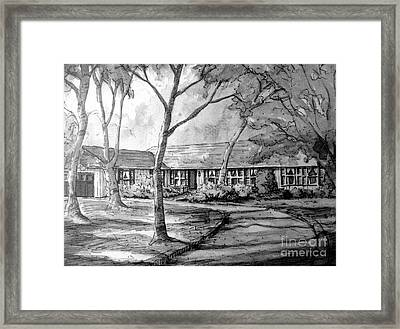Framed Print featuring the painting Ragan Home Illustration by Gretchen Allen
