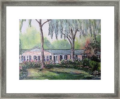Framed Print featuring the pastel Ragan's Home 1 by Gretchen Allen