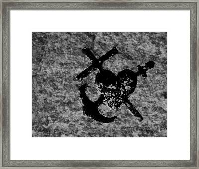 Ragged Tattoo Framed Print