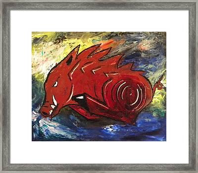 Ragin' Red Framed Print by David McGhee