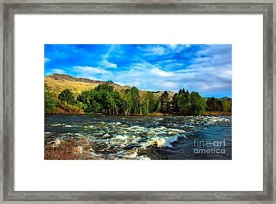 Raging River Framed Print by Robert Bales