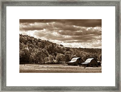 Raging Skies Framed Print by Douglas Barnett