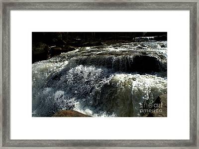 Raging Water Framed Print by Melissa Nickle