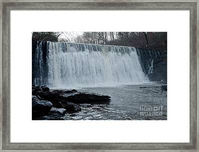 Raging Waterfall Framed Print by Michael Waters