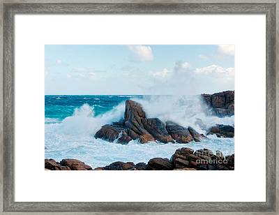 Raging Waves II - Colour Framed Print by Hideaki Sakurai
