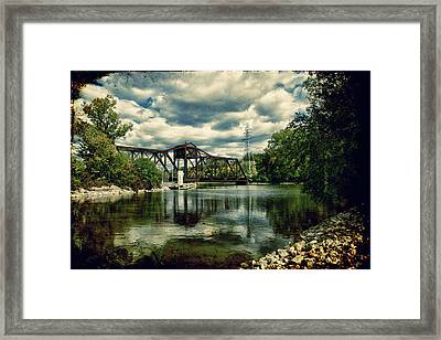 Rail Swing Bridge Framed Print