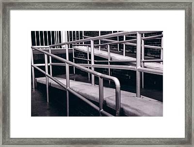 Railing Framed Print by Cecelia Taylor-Hunt