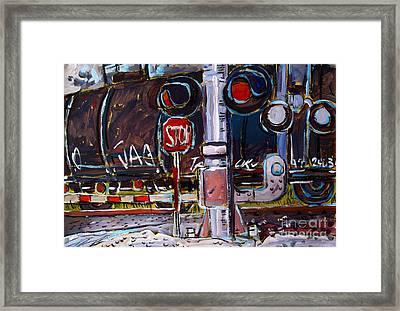 Railjag Framed Print