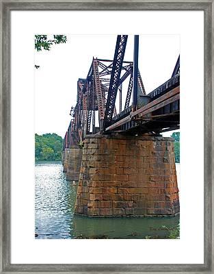 Framed Print featuring the photograph Railroad Bridge 2 by Kay Lovingood