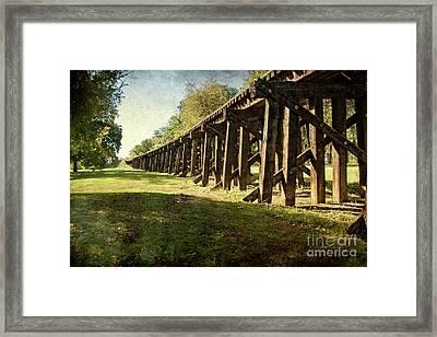 Railroad Bridge Framed Print by Tamyra Ayles